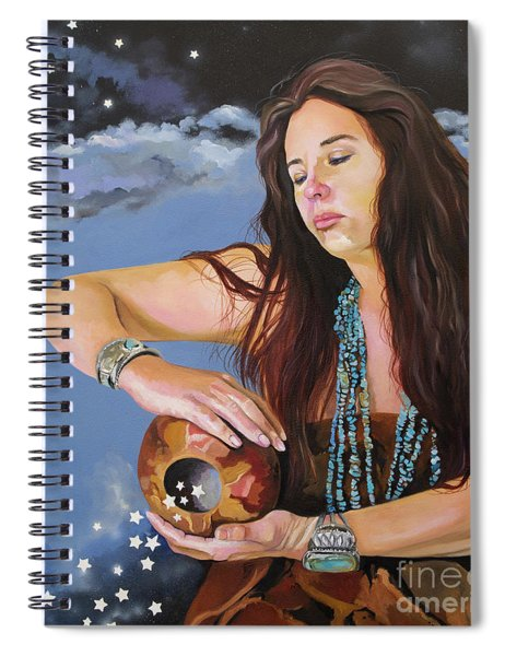 She Paints With Stars Spiral Notebook
