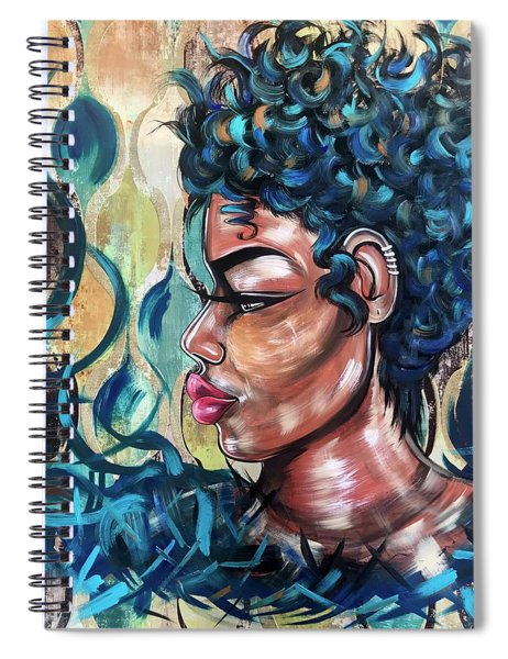 She Was A Cool Flame Spiral Notebook
