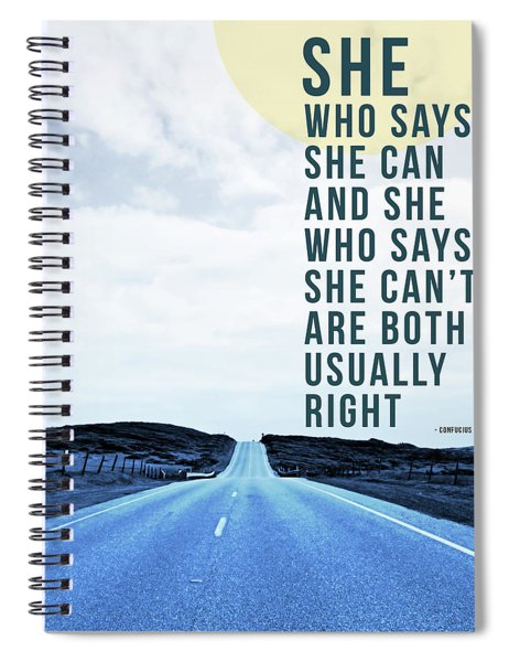 She Who Can- Art By Linda Woods Spiral Notebook
