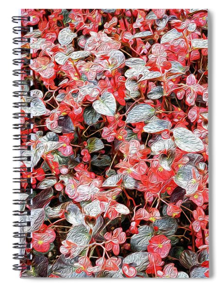She Wore Red Flowers Spiral Notebook