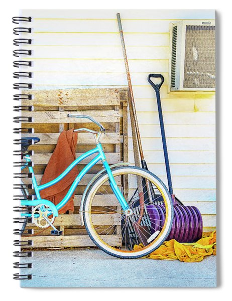 Shed Barn Bicycle Spiral Notebook