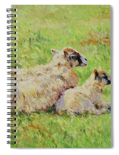 Sheep In The Spring Time,la Vie Est Belle Spiral Notebook