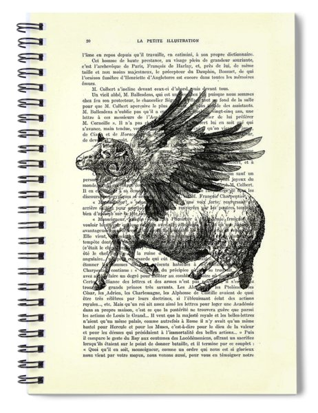 Sheep With Angel Wings Black And White  Spiral Notebook