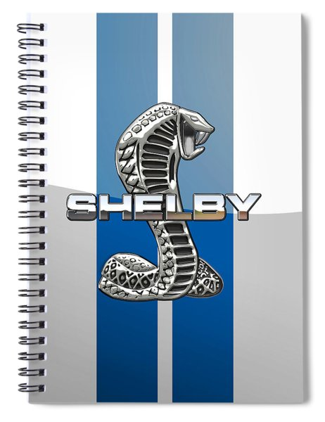 Shelby Cobra - 3d Badge Spiral Notebook