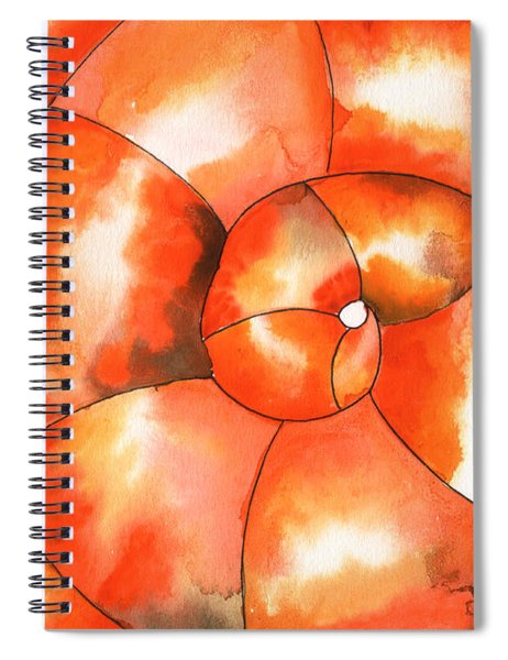 Shell Shock Watercolor Spiral Notebook