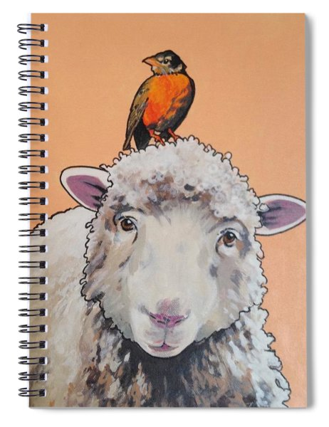 Shelley The Sheep Spiral Notebook