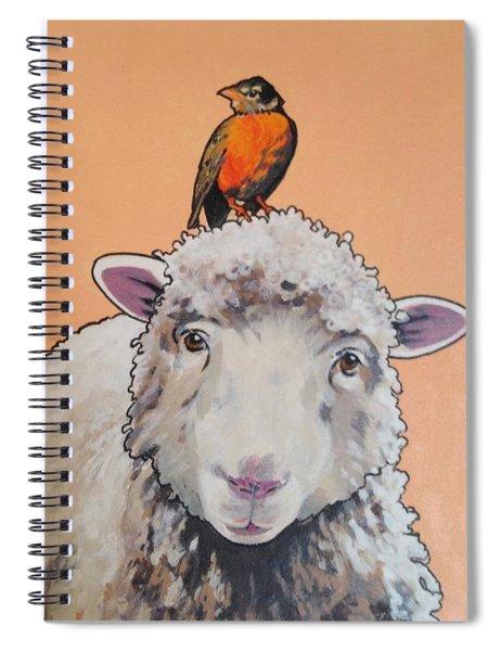 Shelley The Sheep Spiral Notebook