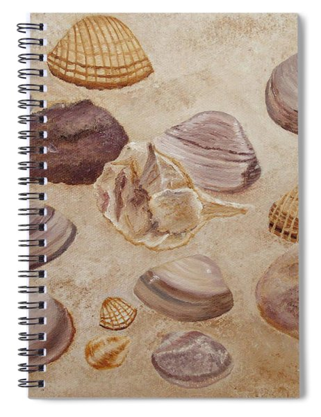 Shells And Stones Spiral Notebook