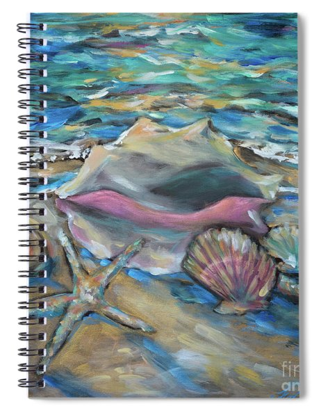 Shells At Tide Spiral Notebook