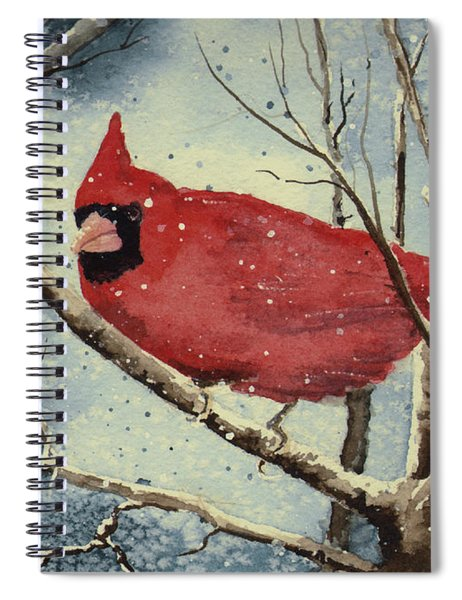 Shelly's Cardinal Spiral Notebook