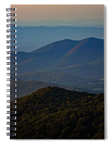 Shenandoah Valley At Sunset Spiral Notebook