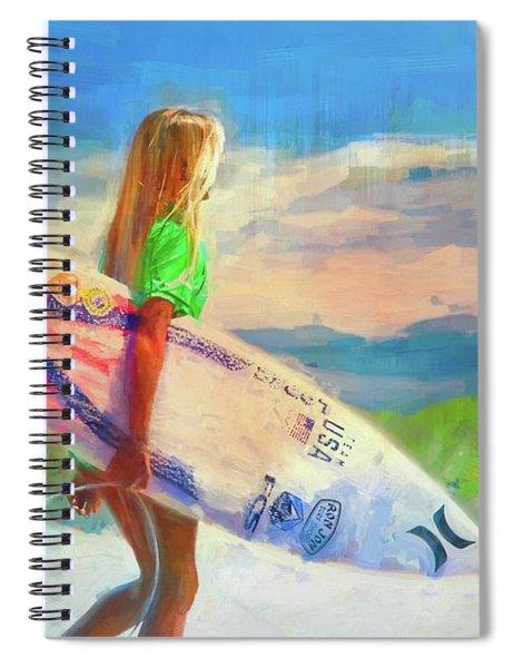 She's An Endless Summer Spiral Notebook