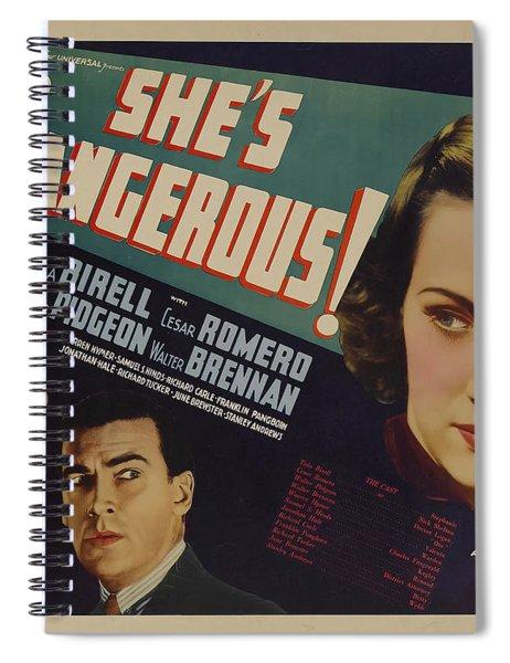 She's Dangerous 1937 Spiral Notebook