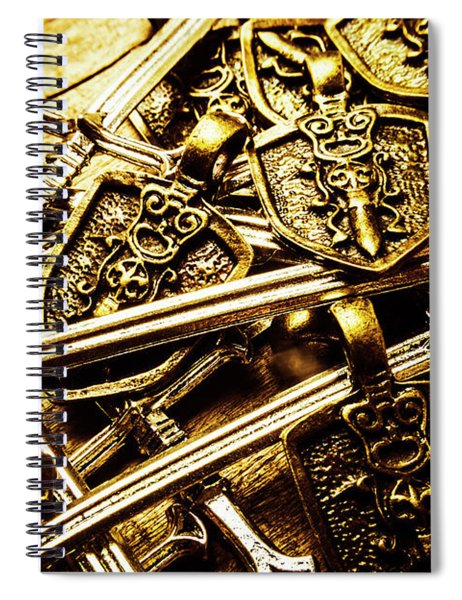 Shields And Swords Weapons Spiral Notebook