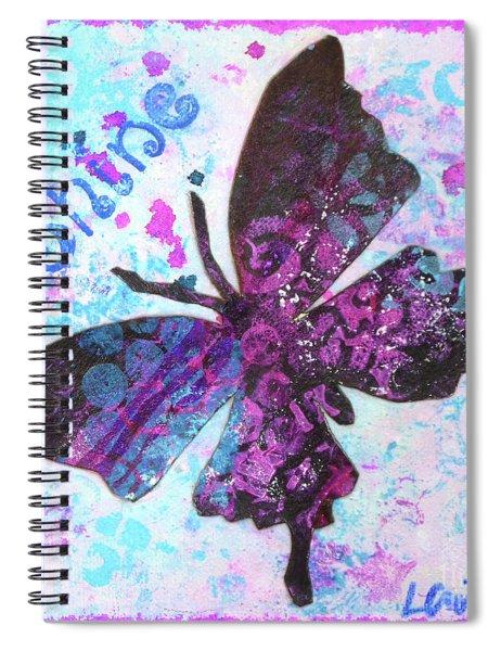 Shine Butterfly Spiral Notebook