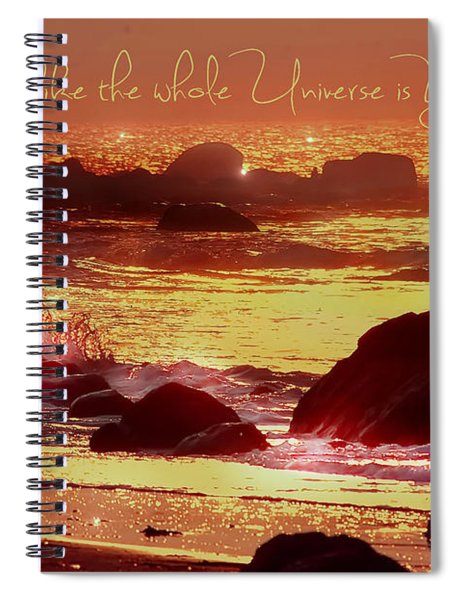 Shine Like The Universe  Spiral Notebook