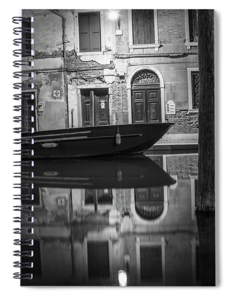 Shining The Light In Venice Italy  Spiral Notebook