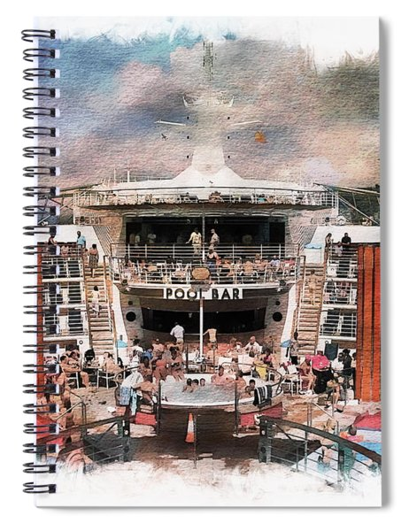 Ship Pool Area Spiral Notebook