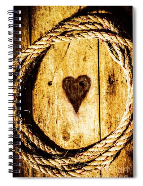 Ship Shape Heart Spiral Notebook