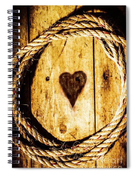 Ship Shape Heart Spiral Notebook
