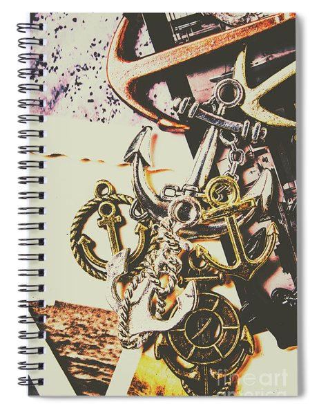 Ship Shape Maritime Icons Spiral Notebook