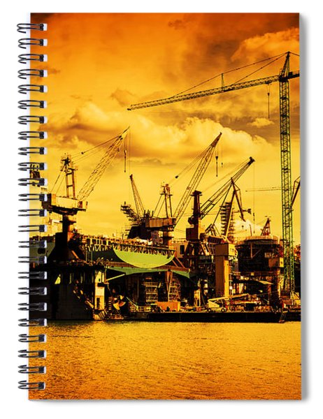 Ship Under Construction Spiral Notebook