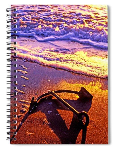 Ships Anchor On Beach Spiral Notebook