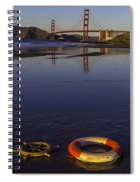 Ships Wheel And Life Ring Spiral Notebook