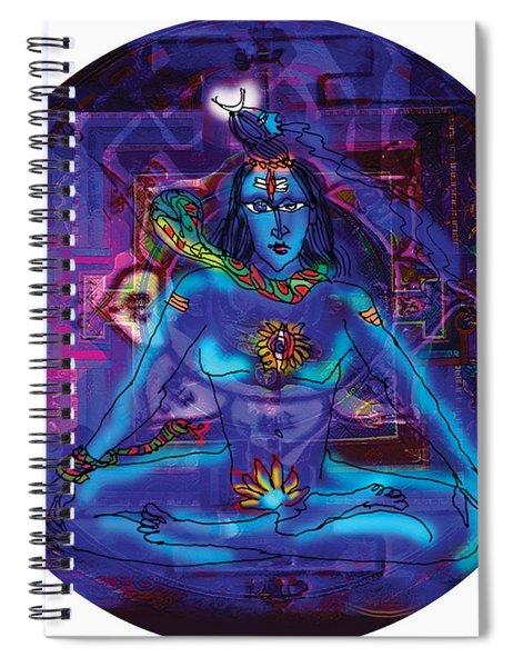 Shiva In Meditation Spiral Notebook