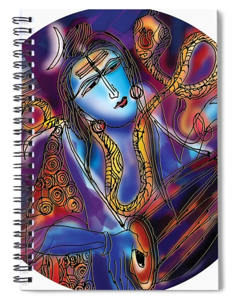 Shiva Playing The Drums Spiral Notebook
