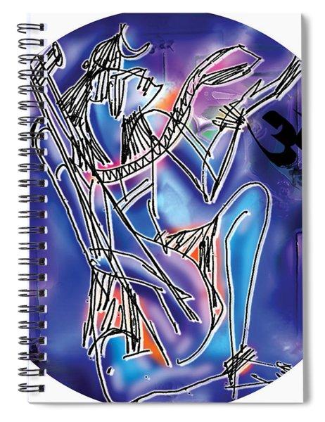 Shiva Playing Vina Spiral Notebook