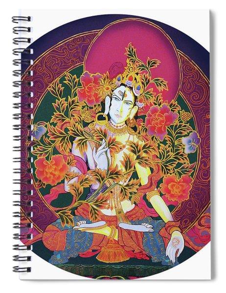 Shiva Shakti Yin And Yang Spiral Notebook