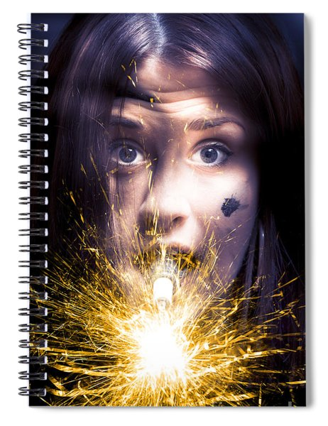 Shocked Spiral Notebook