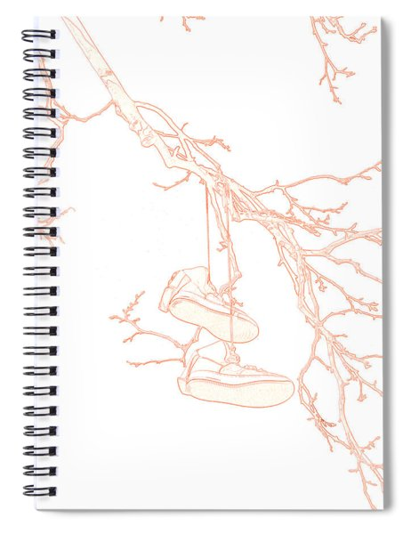 Shoefiti 3036 Spiral Notebook by Brian Gryphon