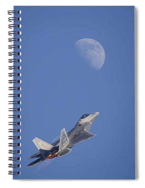 Shoot The Moon Spiral Notebook