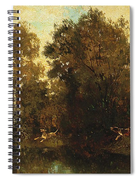 Shooting At A Woodland Pool Spiral Notebook