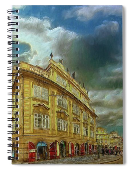 Shooting Round The Corner - Prague Spiral Notebook