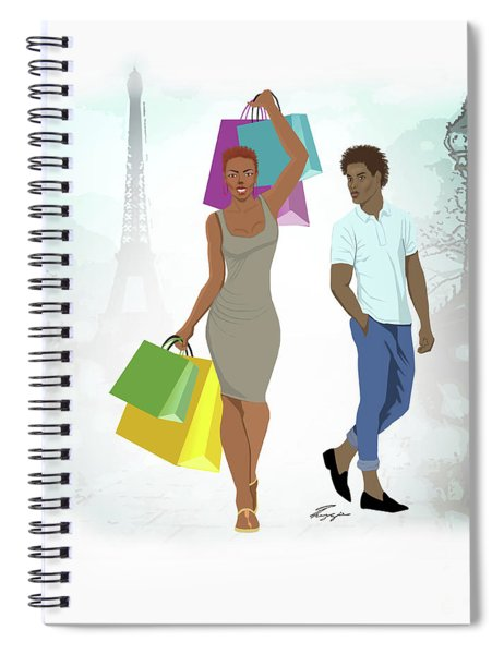 Shopping With Style In Paris Spiral Notebook