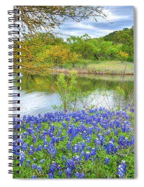 Shoreline Bluebonnets At Lake Travis Spiral Notebook