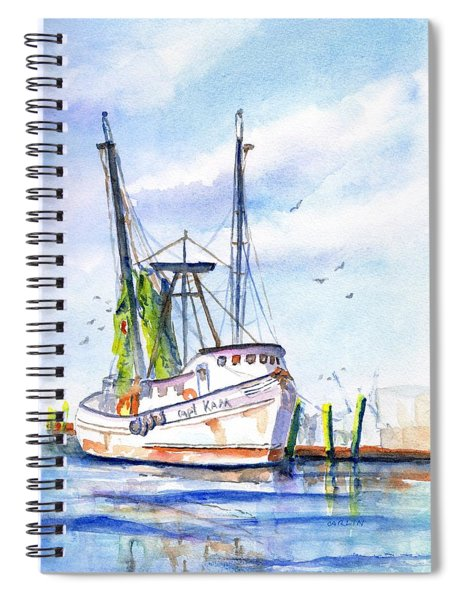Shrimp Boat Gulf Fishing Spiral Notebook