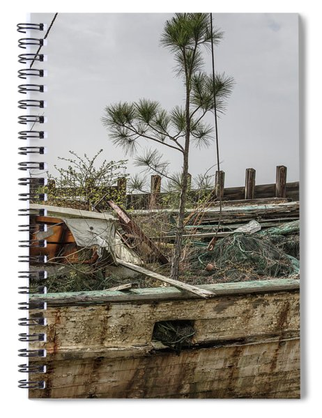 Shrimp Boat With Tree Growing In It  Spiral Notebook