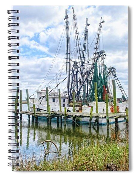 Shrimp Boats Of St. Helena Island Spiral Notebook