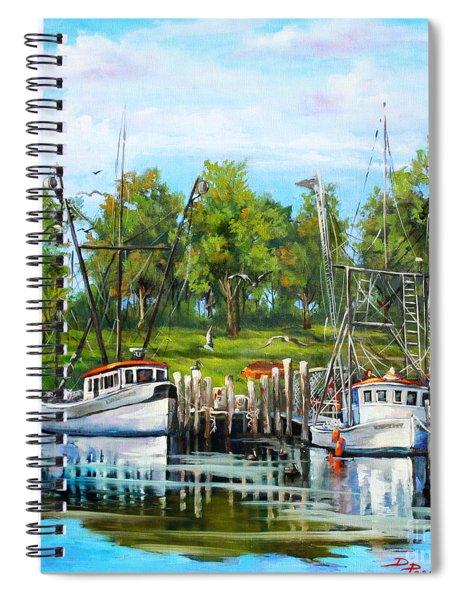 Shrimping Boats Spiral Notebook
