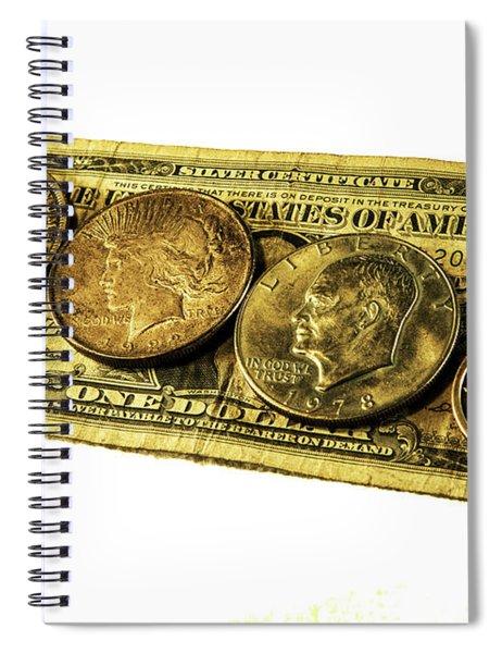 Shrinking Dollars Spiral Notebook