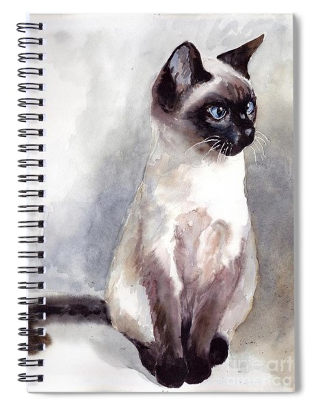 Siamese Kitten Portrait Spiral Notebook