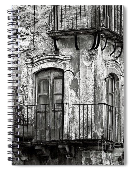 Sicilian Medieval Facade Spiral Notebook