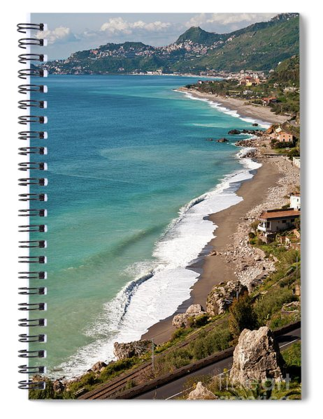 Sicilian Sea Sound Spiral Notebook