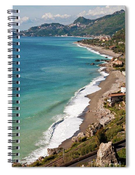 Sicilian Sea Sound Spiral Notebook