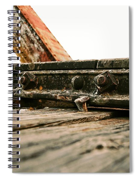 Side Of Rail #photography #trains Spiral Notebook