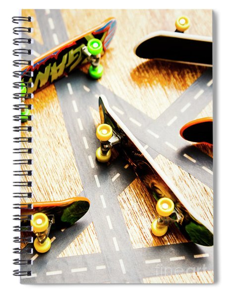 Side Streets Of Skate Spiral Notebook